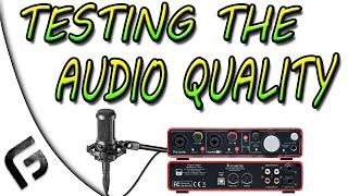 testing the audio quality audio technica at2035 scarlett 2i2
