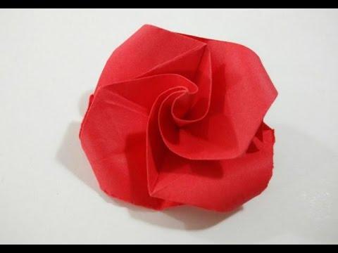 Como hacer una rosa de papel muy facil flor de papel - Como secar una rosa ...