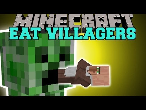 Thumbnail: Minecraft: EAT VILLAGERS (GET EMERALDS THE EASY WAY!) Mod Showcase