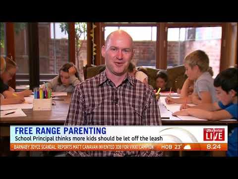 Melbourne principal promotes free range parenting. (09-02-2018)