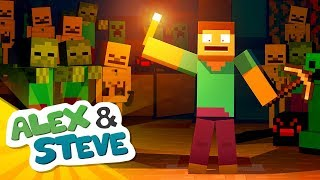 NEVER DIG DOWN IN MINECRAFT   The Adventures of Alex & Steve   Minecraft Animation