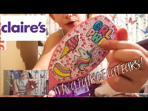 Claire's Accessories Haul & Win a pair of sparkly cat ears!