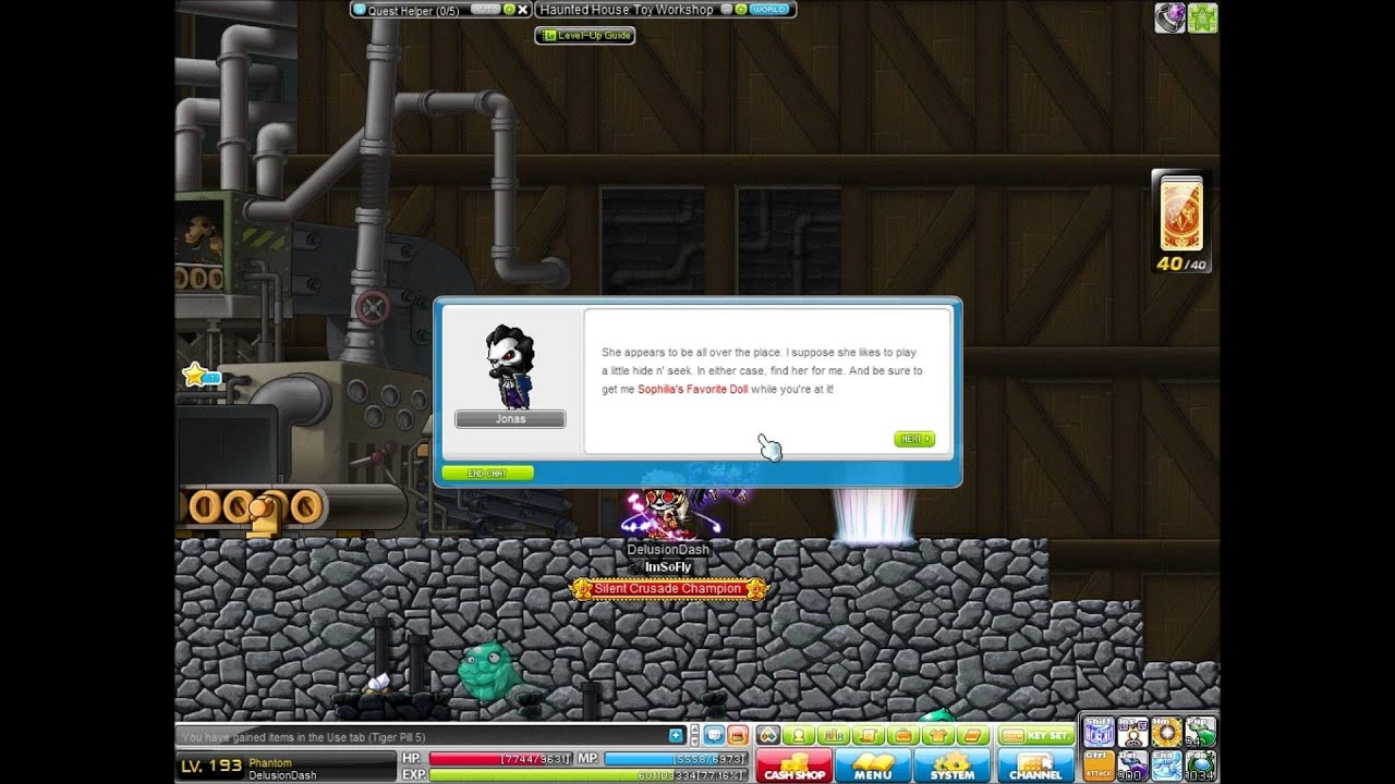 Maplestory adventures site: outside haunted mansion.