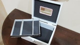 Diy : #82 Jewellery Box From Recycled Wooden Box ♥