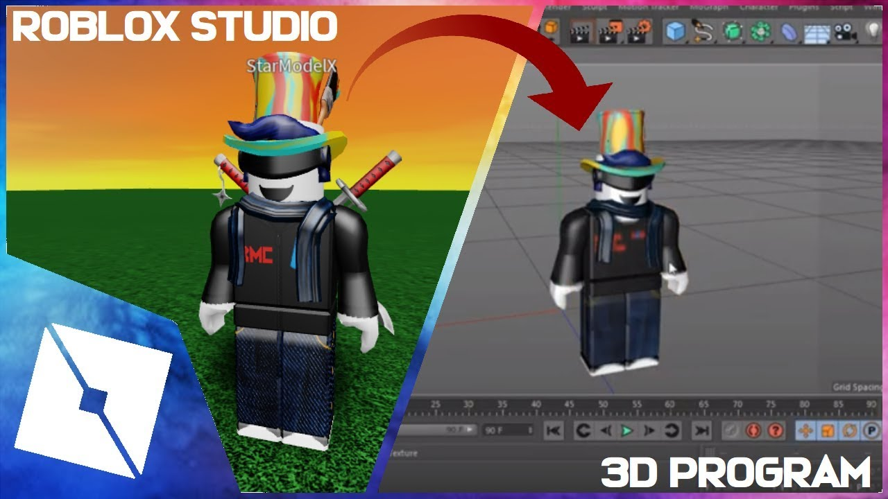 Roblox Tutorial How To Insert Your Character In Any 3d Programs