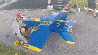 f 18 blue angel rc jet plane rc 1 6 markham park rc pilot michael sarysz