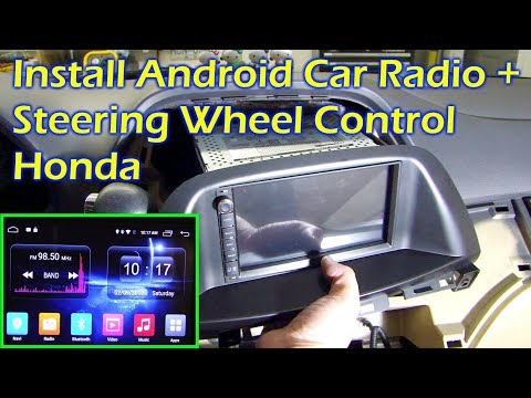 Install Android Car Radio & Steering Wheel Control In Honda Odyssey 08 - Ownice C500
