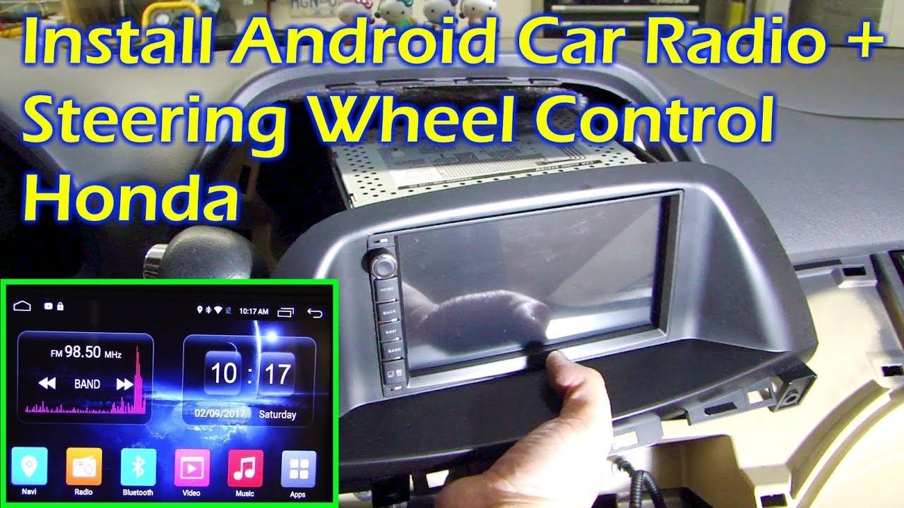 small resolution of install android car radio steering wheel control honda odyssey 08 ownice c500