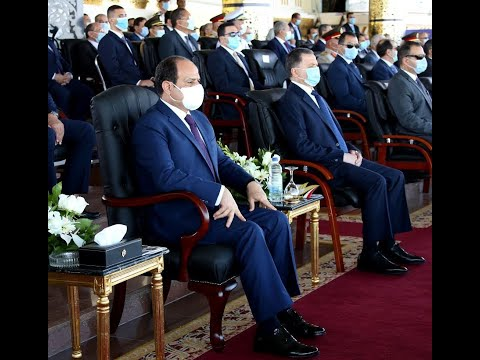 President El-Sisi Attends Graduation Ceremony of Police Cadets at Police Academy, 2020