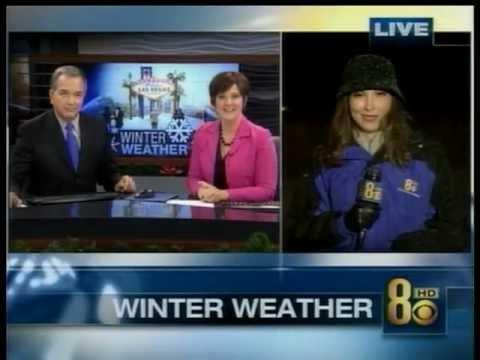 12/17/2008 SNOW DAY IN LAS VEGAS?  KLAS-TV, Ch. 8  Eyewitness News Coverage on Dec. 17 2008