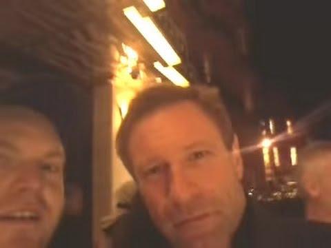 I met Aaron Eckhart