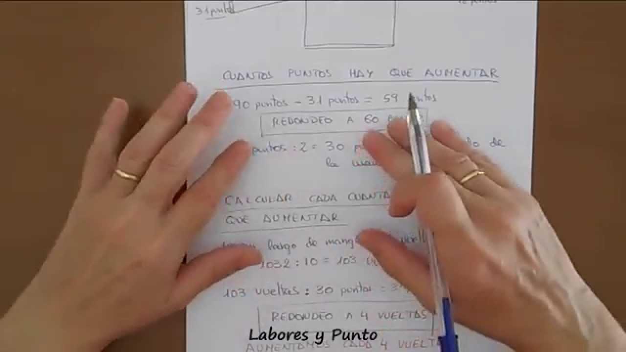 Como calcular puntos y aumentos en mangas rectas para dos agujas ...