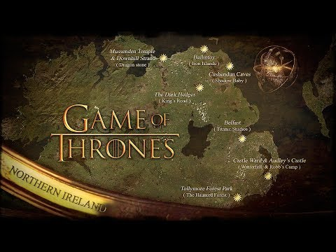 Game Of Thrones - Map & Scenes & Locations  Northern Ireland - Vilin Travel