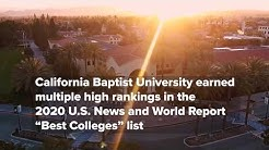 "CBU earned multiple high rankings in the 2020 U.S. News and World Report ""Best Colleges"" list"