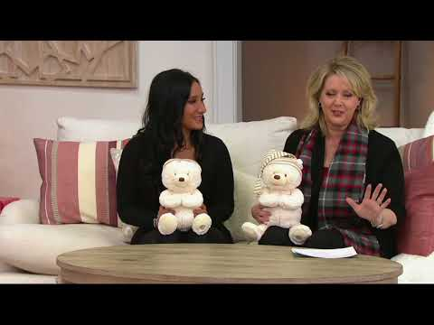 Gund Goodnight Animated Prayer Bear with Music on QVC