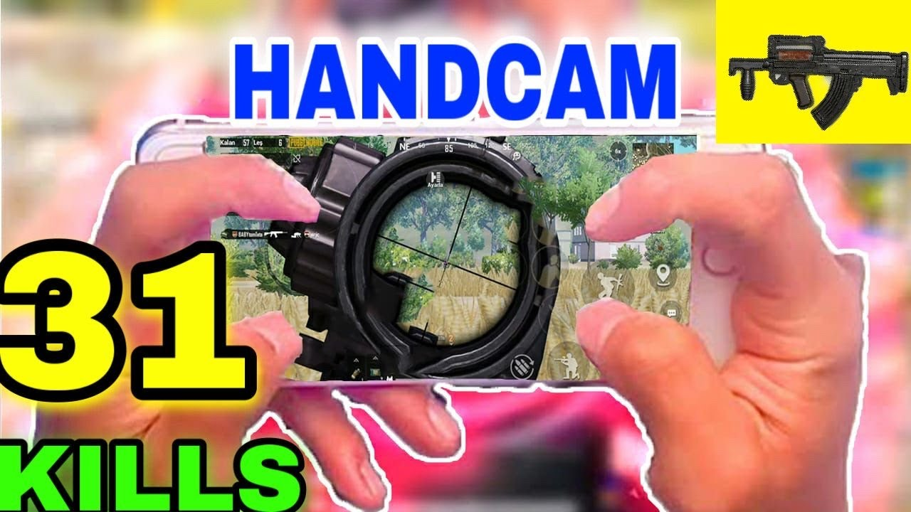 iPhone 7 - PUBG Mobile Handcam 4 Fingers Claw - Gameplay #83
