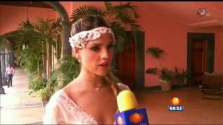 Entrevista a Eiza y Sebastian sobre la noche de bodas de Nikki y Guzmán en 1N