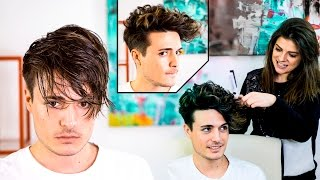 Mens Hair Transformation | Straight to Curly Hairstyle
