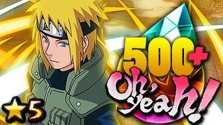 HOLY S&%T! 500+ Ninja Pearl SUMMONS! Minato Namikaze Blazing Festival! Naruto Ultimate Ninja Blazing