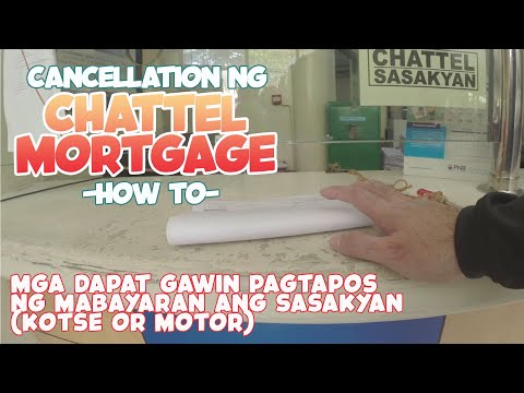 Step by step on how to cancel Chattel Mortgage in the Philippines.