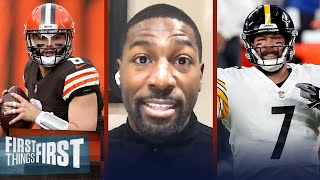 Greg Jennings talks strength of Browns v Steelers to advance in AFC North | NFL | FIRST THINGS FIRST