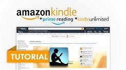 Amazon Kindle (Bücher lesen) Prime Reading + Kindle Unlimited (Amazon Tutorial Serie #04)