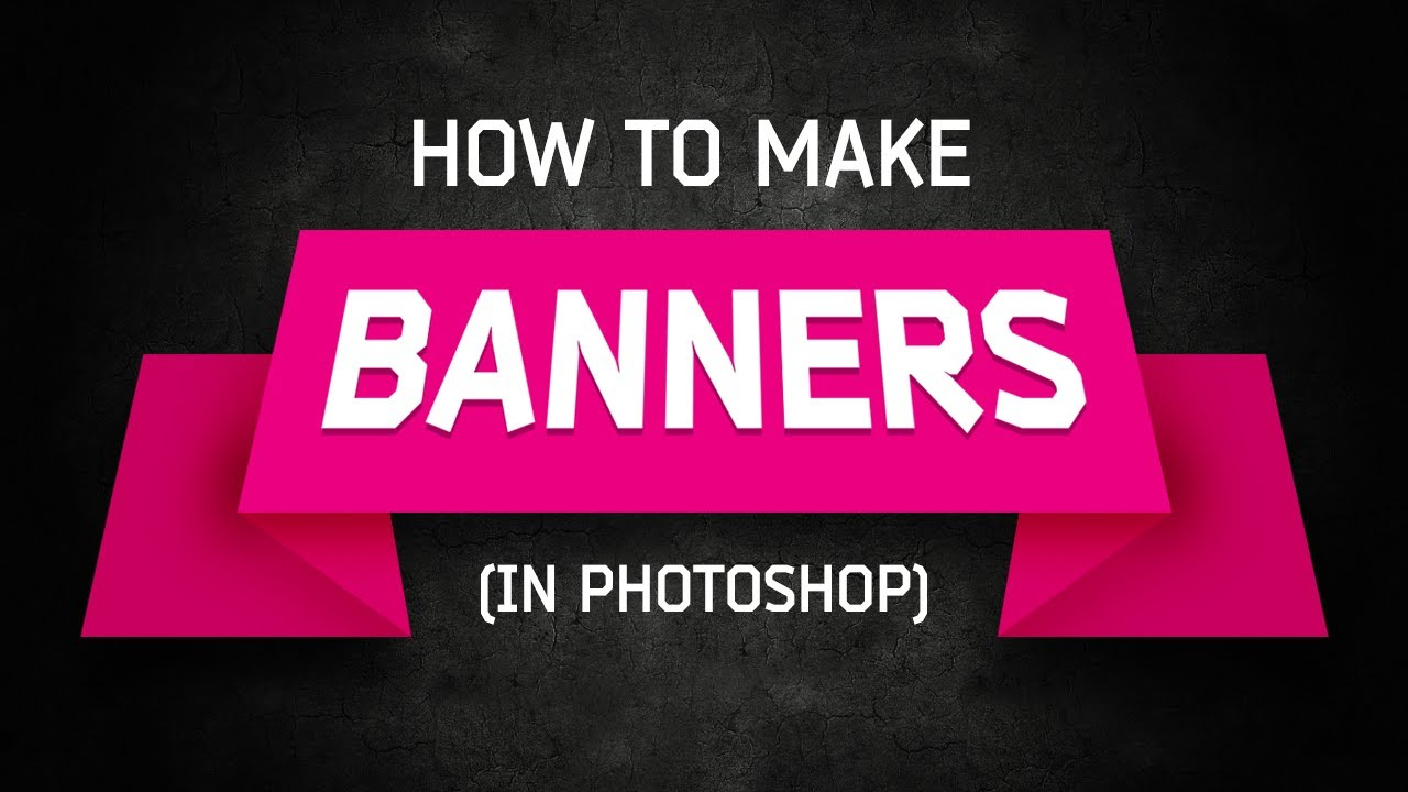 Photoshop tutorial banners and ribbons youtube baditri Image collections