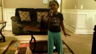 6 year old sings trust and believe