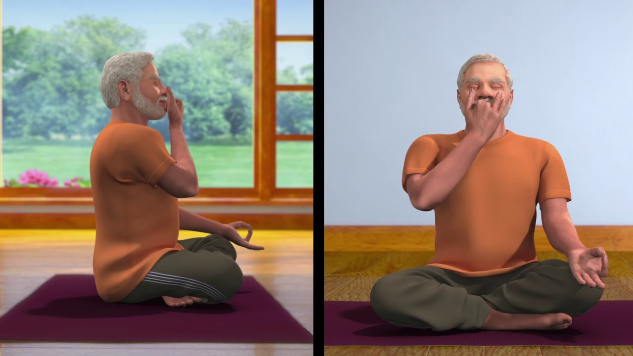 Yoga with Modi : Nadi Shodhan Pranayam Hindi