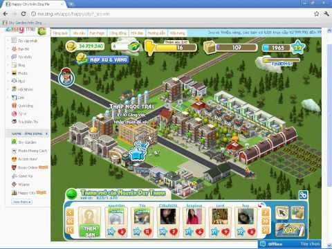 Hack vàng Happy City - Thành phố vui vẻ (15-8-2011)