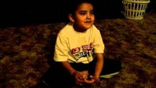 little boy telling a navajo story