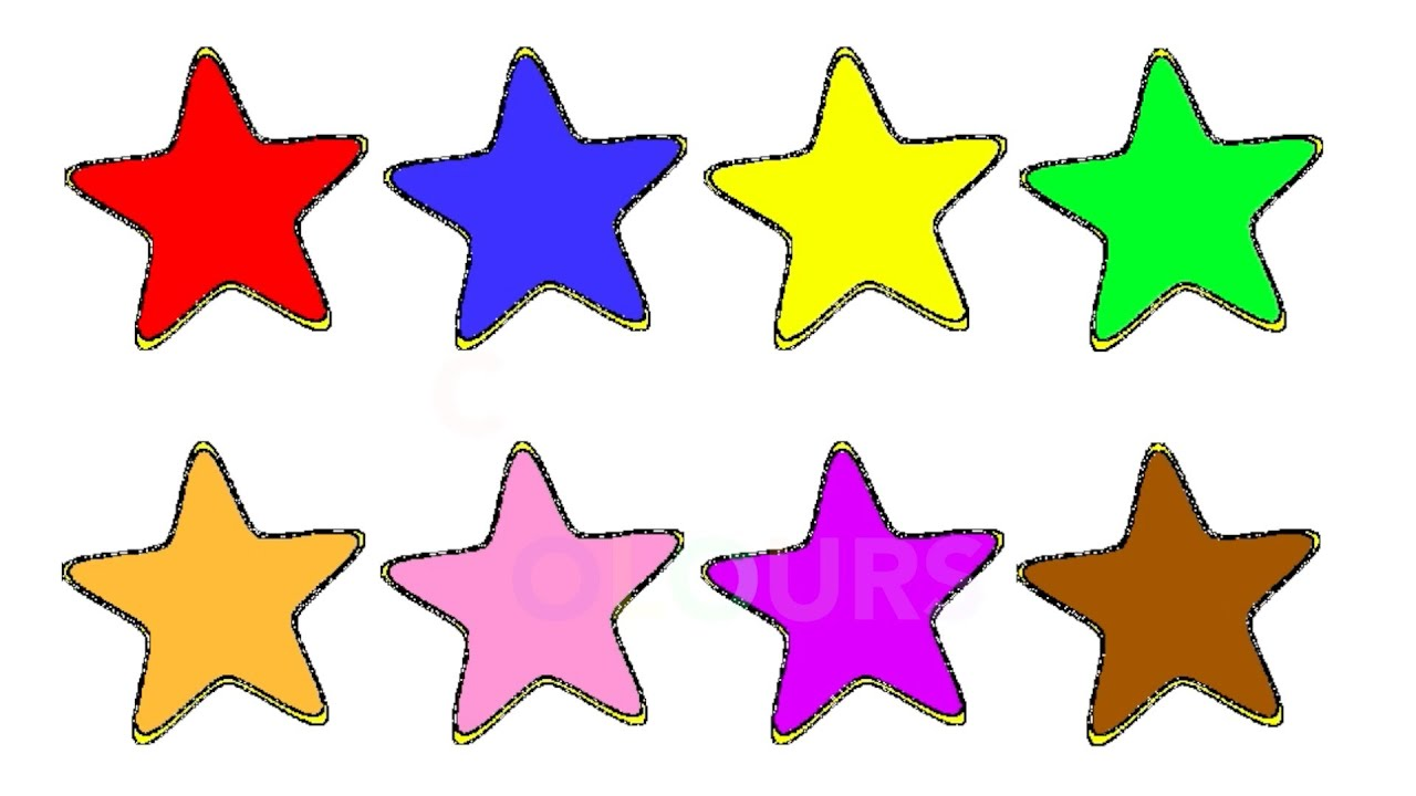 Learn Colours For Children With STARS Colouring Page - YouTube