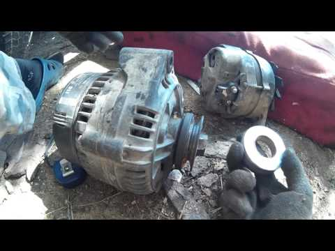 Установка генератора от Мерседес Бенц Mercedes-Benz на Газель 3302 (уаз) 402 и 417 двигатель