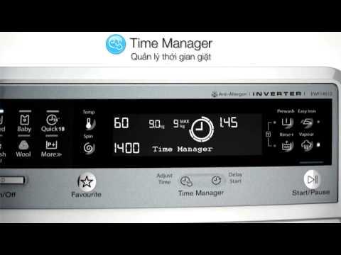 Video trình diễn tính năng máy giặt Electrolux Time Manager