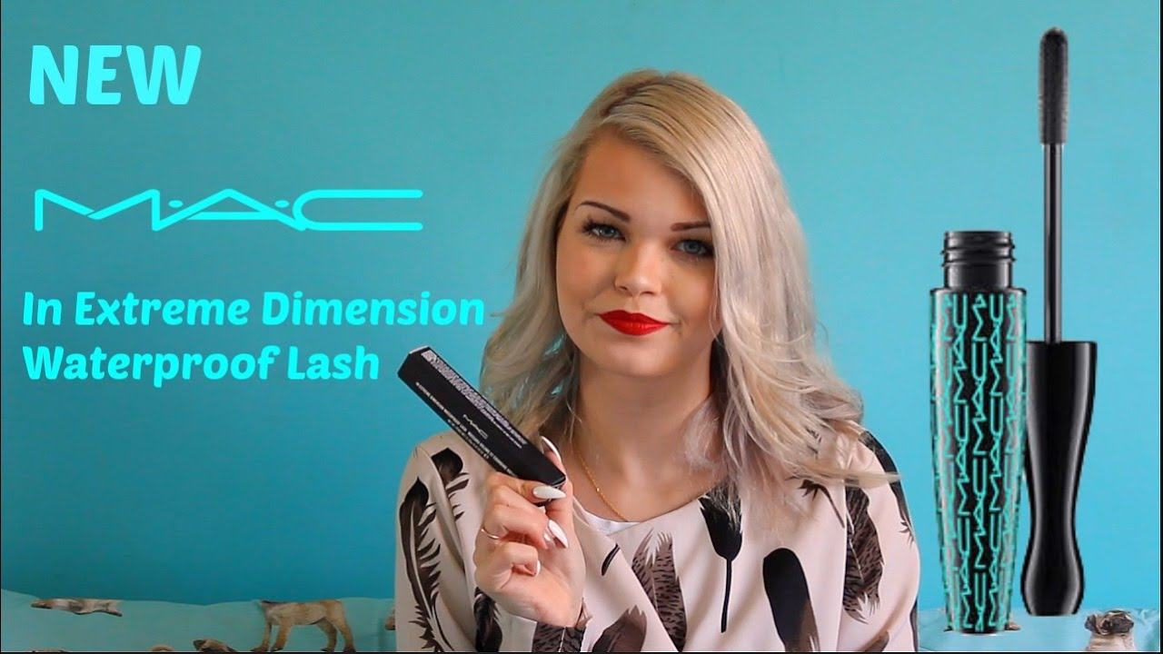 New MAC In Extreme Diion Waterproof Lash Mascara Review - YouTube