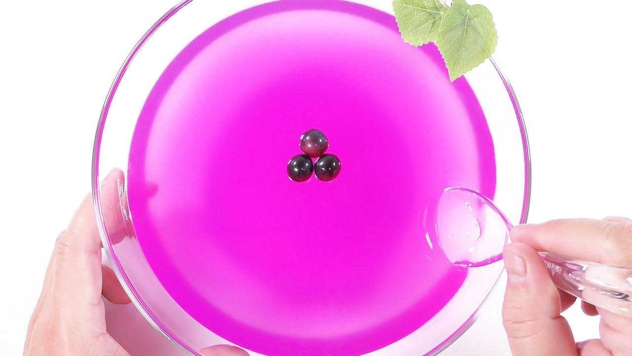 【ASMR】巨大ぶどうジグリースライム【音フェチ】BIG Grape Jiggly Slime