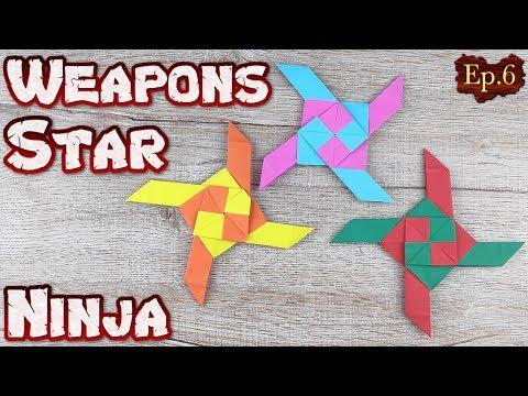 Ninja Star Origami | How To Making a Ninja Weapons Paper Tutorials | DIY Paper Blade Shuriken Ep.6
