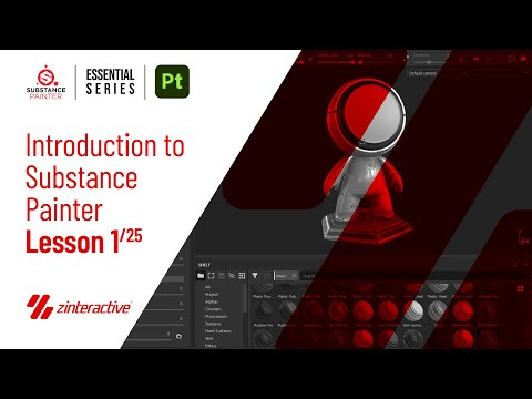 Introduction to Substance Painter | Lesson 1 of 25 | Substance Painter Full Course