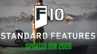 Updated Standard Features on the NuCanoe F10 Fishing Kayak