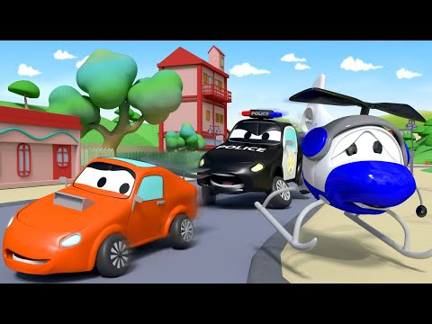 Police car for kids -  Hector is Playing Solo - Car Patrol in Car City !