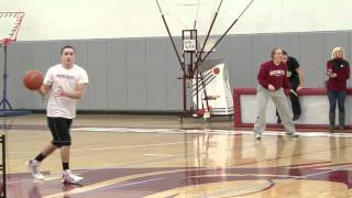 World Record! Most basketball half-court shots in one minute
