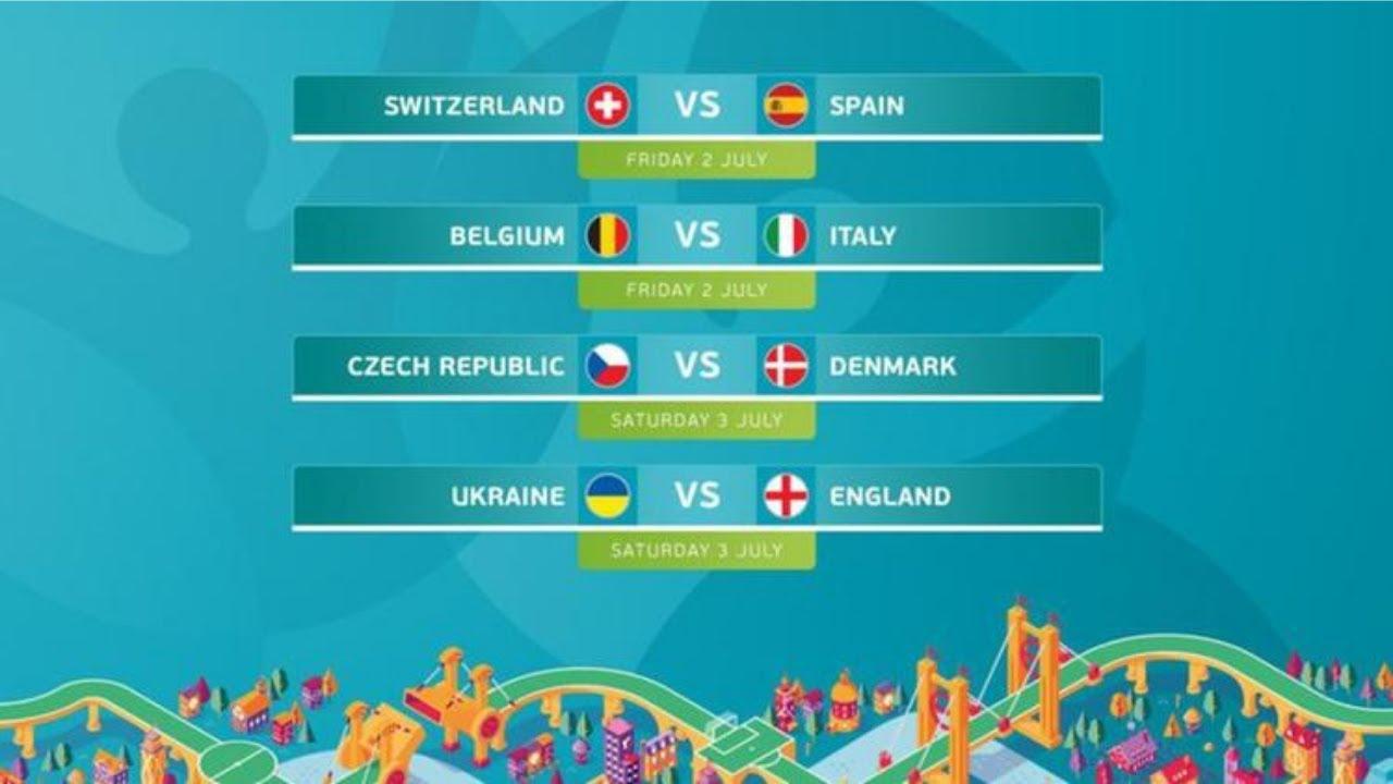 Uefa Euro 2020   Il tabellone dei quarti - YouTube