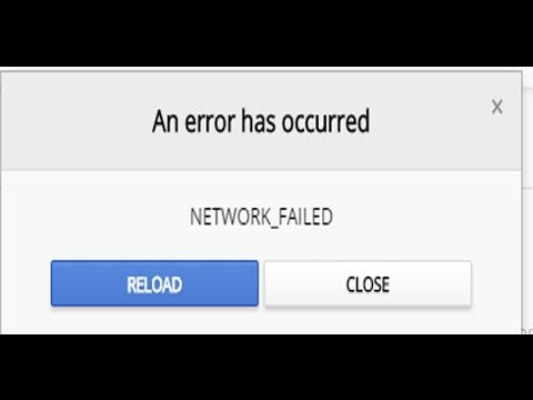failed network error fix