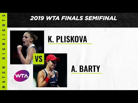 Ashleigh Barty v. Karolina Pliskova   2019 WTA Finals   WTA Highlights
