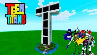 "Minecraft: How To Make Titan Tower ""Teen Titans"""