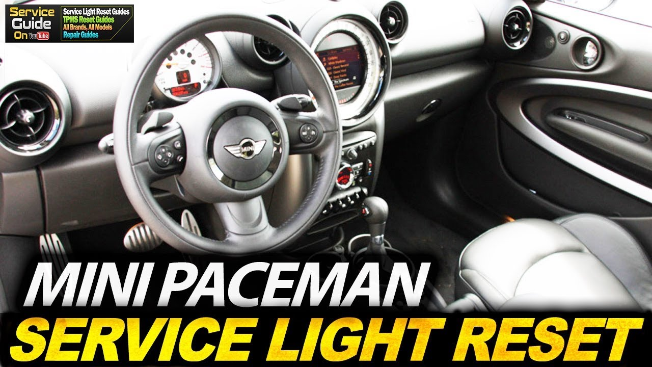 Mini Paceman Service Light Reset Youtube