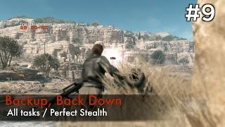 【MGSV:TPP】Episode 9 : Backup, Back Down (S Rank/All Tasks/Perfect Stealth)