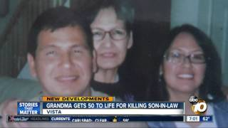 Grandma gets 50 to life for killing son-in-law
