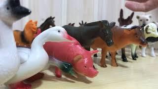 Игрушки фигурки животных