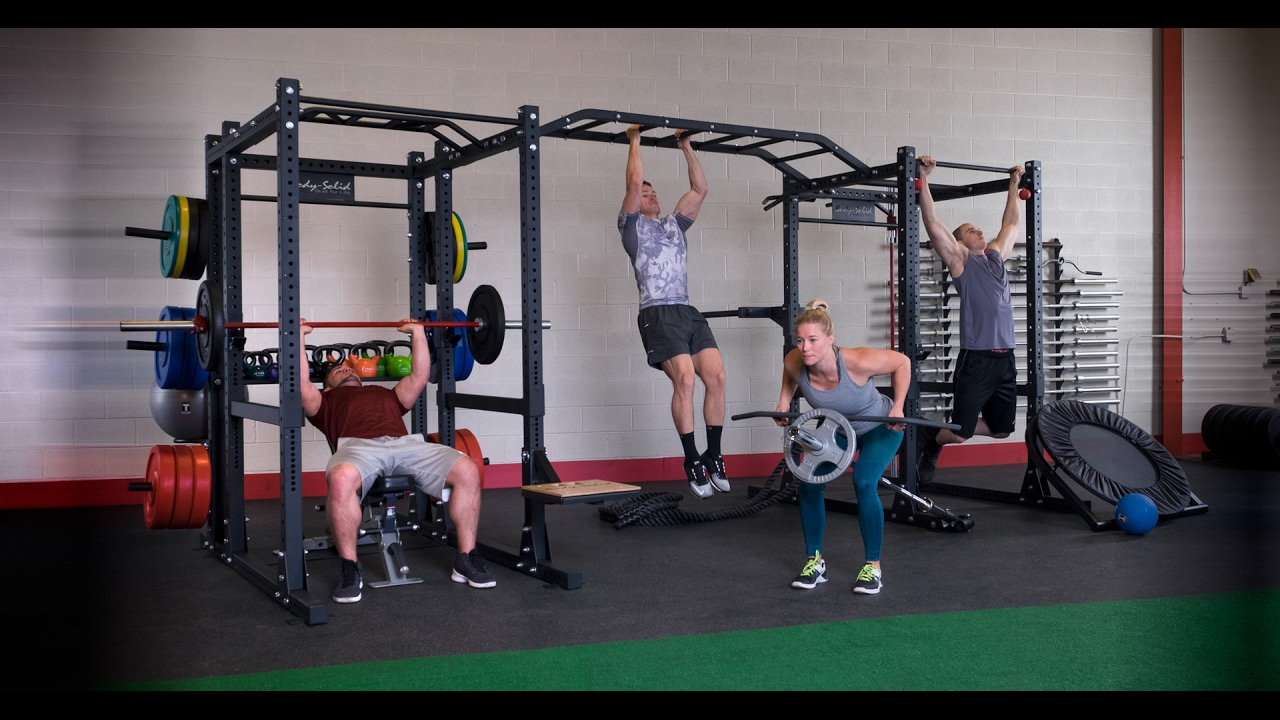 Body solid spr1000 commercial power rack youtube